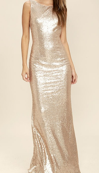 383f65ab59df Lulu's Dresses & Skirts - Lulus rose gold sequined maxi dress😗